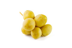 Palmas de data amarelas Imagens de Stock Royalty Free