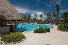 Palmas de la piscina de México Fotografía de archivo libre de regalías