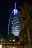 Palmas del hotel de Dubai Burj Al Arab Fotografía de archivo