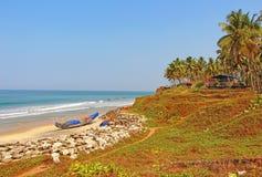 Palmas, playa del océano La India del sur Fotografía de archivo libre de regalías