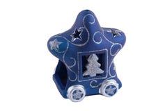 Palmatoria azul en un fondo blanco Fotografía de archivo libre de regalías