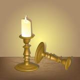Palmatoria con la vela Imagen de archivo