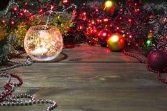 Palmatoria con las bolas de una vela Imagen de archivo libre de regalías