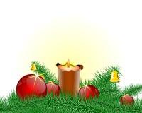 Palmatoria de la Navidad Foto de archivo libre de regalías