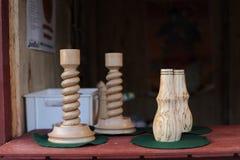 Palmatoria de madera inusual foto de archivo libre de regalías