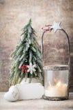 Palmatoria Linterna de la Navidad Decoración de Cristmas, saludando el Ca Fotografía de archivo libre de regalías