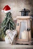 Palmatoria Linterna de la Navidad Decoración de Cristmas, saludando el Ca Fotografía de archivo