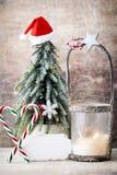 Palmatoria Linterna de la Navidad Decoración de Cristmas, saludando el Ca Imágenes de archivo libres de regalías