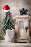Palmatoria Linterna de la Navidad Decoración de Cristmas, saludando el Ca Imagen de archivo