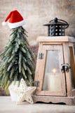 Palmatoria Linterna de la Navidad Decoración de Cristmas, saludando el Ca Fotos de archivo
