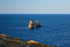 Palmatorias gemelas en la costa del norte imagen de archivo libre de regalías