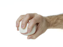 Palmball Grip. Illustrates how to hold a baseball to throw a palmball Stock Image