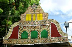 Palmbladfestivalprydnader av tamilnaduen, Indien royaltyfri fotografi