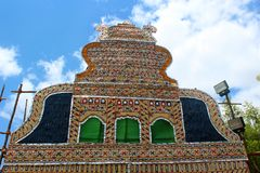 Palmbladfestivalprydnader av tamilnaduen, Indien royaltyfria foton