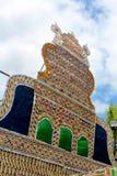 Palmbladfestivalprydnader av tamilnaduen, Indien arkivbilder