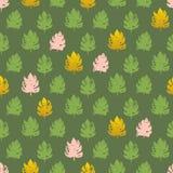 Palmblatt-Farben-nahtloses Muster Stockfotografie