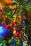 Palme astratte delle luci festive fotografia stock libera da diritti