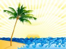 Palme auf dem Strand vektor abbildung