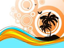 Palme auf Insel Lizenzfreies Stockfoto