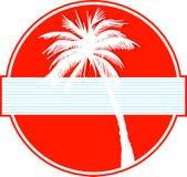 Palme auf Rot Stockfoto