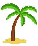 Palme in der Wüste stock abbildung
