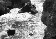 Palme-Jahreszeit an Avila-Strand stockbild