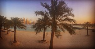 Palme Jumeirah stockfoto