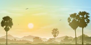 Palme-Landschaft lizenzfreie abbildung
