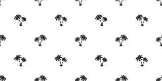 Palme lokalisierte nahtlose Musterkokosnussinsel Wiederholungstapeten-Fliesenhintergrund Stockfotos