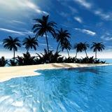 Palme tropicali del mare Immagini Stock Libere da Diritti