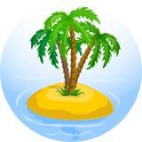 palme tropicali nel vettore dell'oceano Immagini Stock