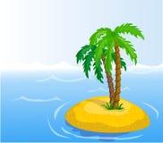 palme tropicali, vettore Fotografia Stock