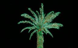 Palme Zusammenfassungs-UFO grüne Farb stock abbildung