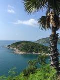Palmeiland in de Indische Oceaan! royalty-vrije stock afbeeldingen