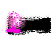Palmeira de Grunge. Ilustração do vetor Fotografia de Stock