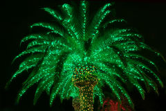 Palmeira exterior do Natal do Lit Imagem de Stock Royalty Free