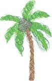 Palmeira feita das linhas Ilustração Royalty Free