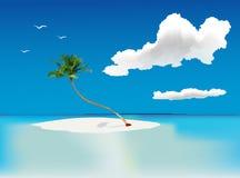 Palmeira só ilustração stock