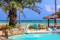 Palmeira sobre a praia tropical Imagem de Stock Royalty Free