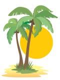 Palmeiras ilustração royalty free