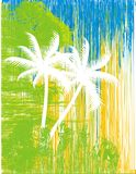 Palmeiras abstratas Fotos de Stock Royalty Free