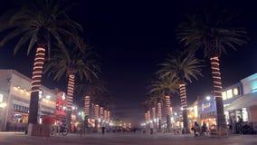 Palmeiras da praia de Hermosa, L A Fotografia de Stock