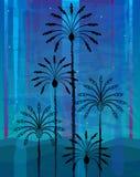 Palmeiras do deserto ilustração stock