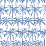 Palmeiras do esboço dos azul-céu no fundo branco ilustração do vetor