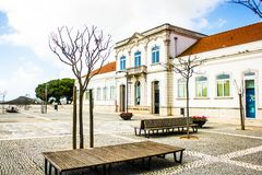 Palmela市政图书馆, Largo de S João,在Palmela, Setúbal,葡萄牙 库存图片