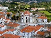 Palmela Church and the town (Portugal) Stock Photos