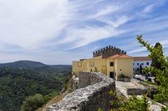 Palmela kasztel, Setúbal półwysep, Portugalia zdjęcia royalty free
