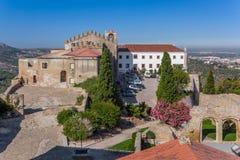 Castelo de Palmela Castle with Historical Hotel of Pousadas de Portugal royalty free stock image