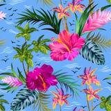 Palmemuster des Vektors tropisches Stockfotografie