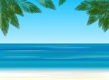 Palmen auf dem Hintergrund des Meeres vektor abbildung